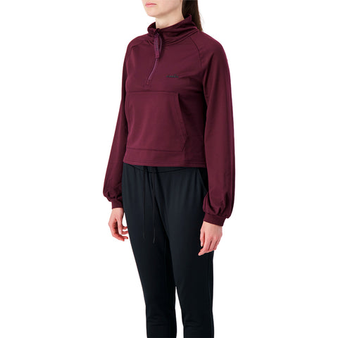 DIADORA WOMEN'S VIBE TECH CROP PULLOVER POTENT PURPLE