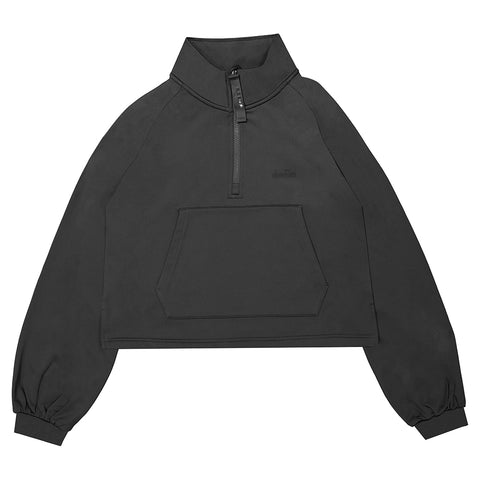 DIADORA WOMEN'S VIBE TECH CROP PULLOVER BLACK