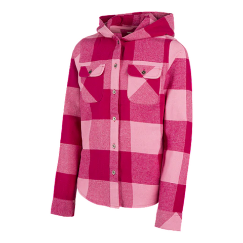 RIPZONE GIRL'S  JANA FLANNEL SACHET PINK/SANGRIA