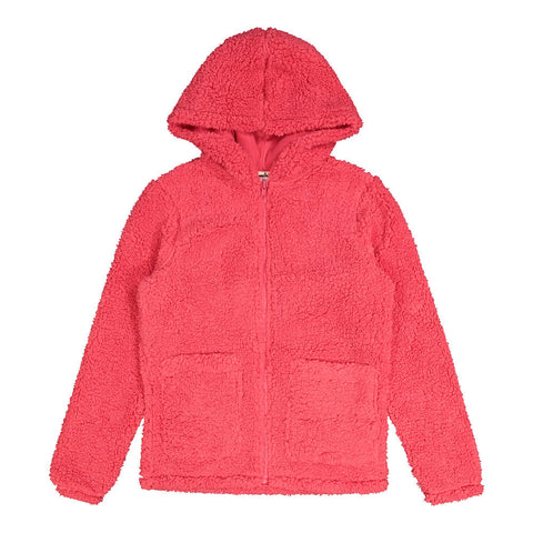 RIPZONE GIRL'S  HIGHLANDS SHERPA BOMBER RASPBERRY