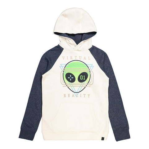 RIPZONE BOY'S MARS GRAPHIC PULLOVER HOODY BLACK/IVORY