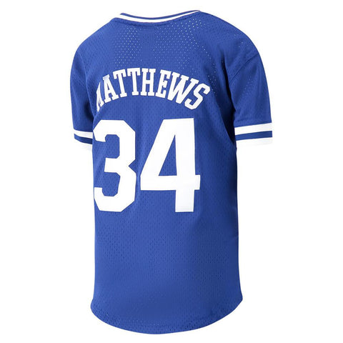 OUTERSTUFF YOUTH TORONTO MAPLE LEAFS VNECK MESH PLAYER FASHION TOP MATTHEWS
