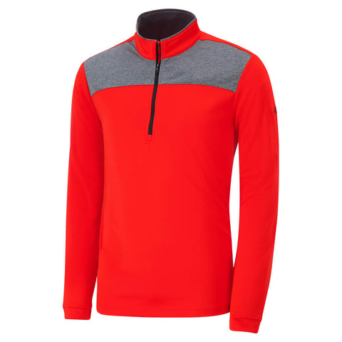 ADIDAS MEN'S ADI UPF 1/4 ZIP RED
