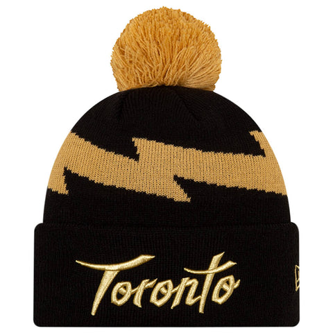 NEW ERA MEN'S TORONTO RAPTORS CITY SERIES 19 KNIT HAT BLACK