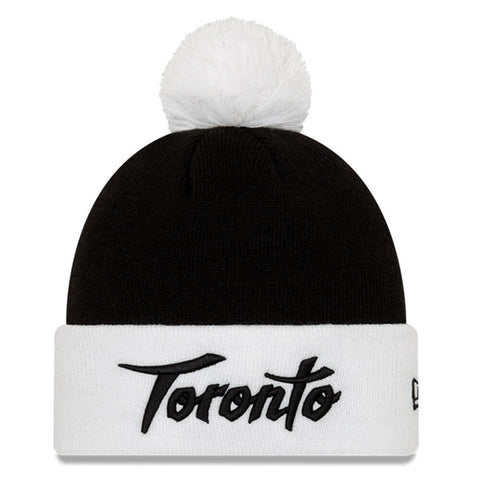 NEW ERA MEN'S TORONTO RAPTORS CITY SERIES 19 HOLIDAY KNIT HAT WHITE