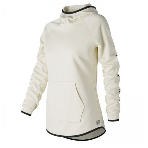 NEW BALANCE WOMEN'S CORE FLEECE HOODY SEA SALT