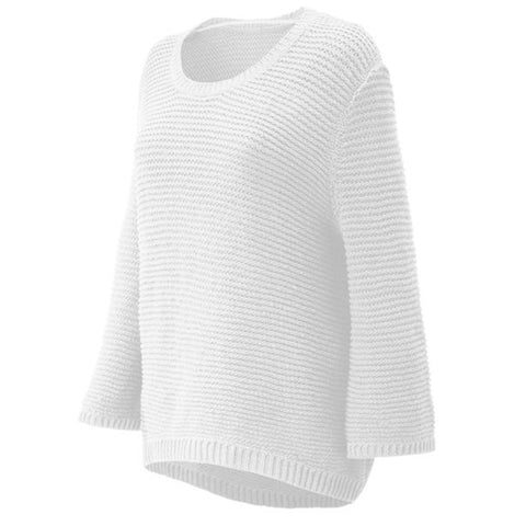 NEW BALANCE WOMEN'S OPEN STITCH SWEATER WHITE