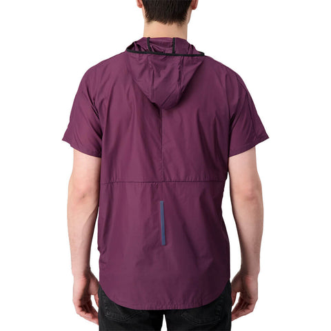 NEW BALANCE MEN'S BREATHE HOODY DARK CURRANT