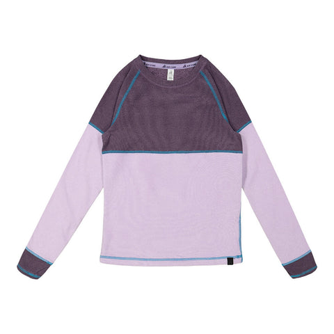 RIPZONE GIRLS COLOR BLOCKED LONG SLEEVE TOP PURPLE