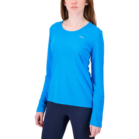 FILA WOMEN'S  FUNDAMENTAL LONG SLEEVE DEEP SKY