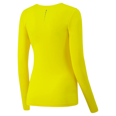 FILA WOMEN'S MAJOR LONG SLEEVE YELLOW/MINERAL GREY/DARK TEAL