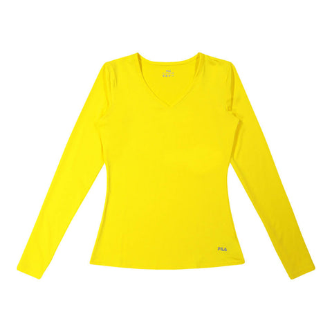 FILA WOMEN'S  POINT LONG SLEEVE YELLOW