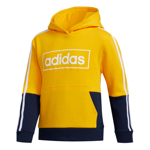 ADIDAS BOY'S COLOUR BLOCK PULLOVER YELLOW/NAVY