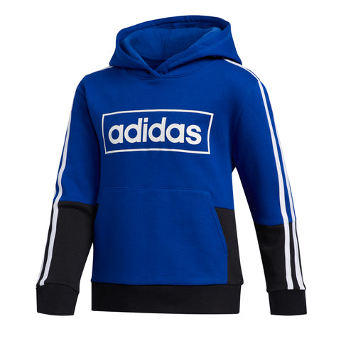 ADIDAS BOY'S COLOR BLOCK PULLOVER BLUE/BLACK