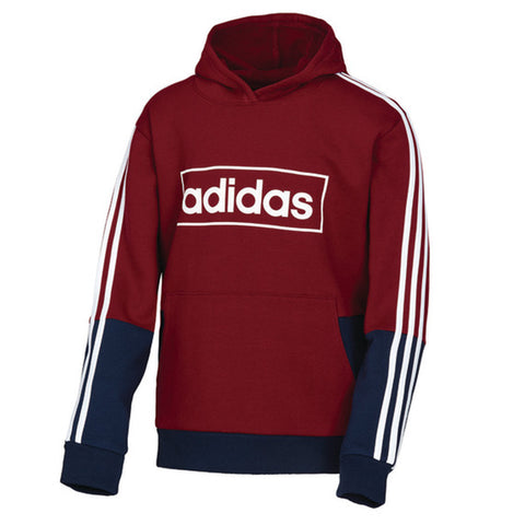 ADIDAS BOY'S COLOR BLOCK PULLOVER BURGUNDY/NAVY
