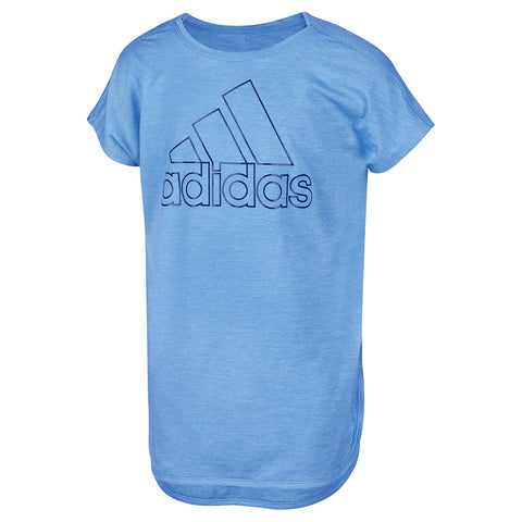 ADIDAS GIRL'S TUNIC MEDIUM BLUE