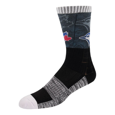 FBF ORIGINALS MEN'S TORONTO BLUE JAYS BLACK OUT SOCKS