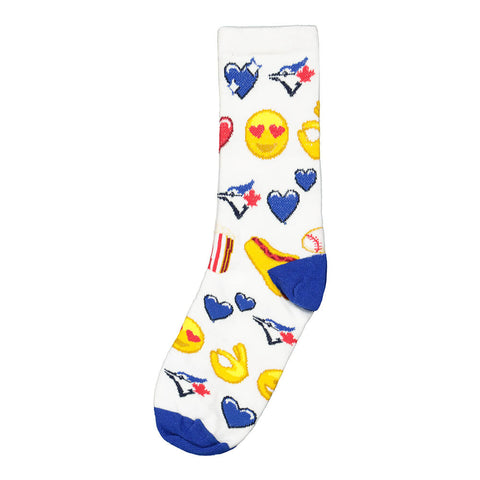 FBF ORIGINALS YOUTH TORONTO BLUE JAYS DOTS AND STRIPES SOCKS