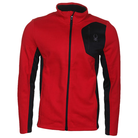 SPYDER MEN'S KNIT JACKET RACING RED