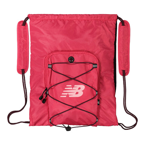 NEW BALANCE MEDIA CINCH SACK POMEGRANATE