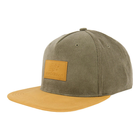 NEW BALANCE FLAT BRIM 5 PANEL COURDUROY TRIUMPH GREEN
