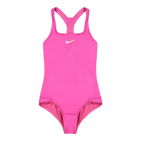 NIKE GIRL'S SOLID 1 PIECE  LASER FUCHSIA
