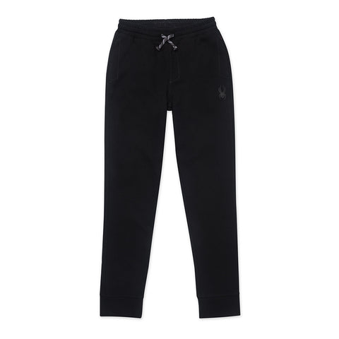 SPYDER BOY'S DOUBLE KNIT JOGGER BLACK