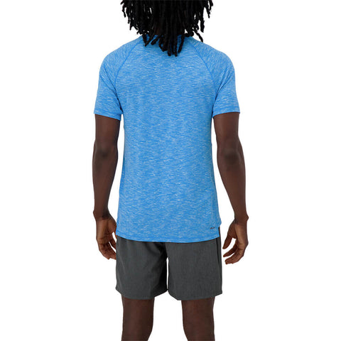 NEW BALANCE MEN'S ANTICIPATE 2.0 SHORT SLEEVE TOP BLUE