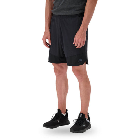 NEW BALANCE MEN'S R.W.T. KNIT SHORT BLACK