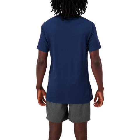 NEW BALANCE MEN'S R.W.T. HEATHERTECH SHORT SLEEVE TOP