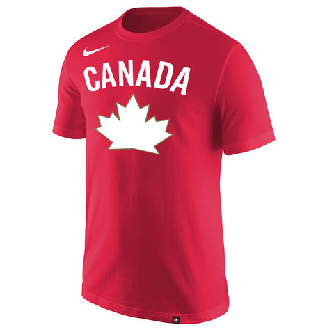 NIKE MEN'S TEAM CANADA CORE COTTON SHORT SLEEVE TOP RED