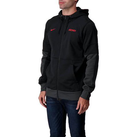 NIKE MEN'S HOCKEY SIDELINE THERMA FULL ZIP BLACK/ANTHTACITE