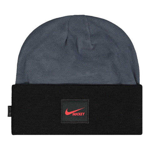 NIKE MEN'S DRI-FIT HOCKEY BEANIE BLACK/GREY