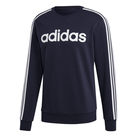 ADIDAS MEN'S ESSENTIALS 3 STRIPES FLEECE CREW BLUE