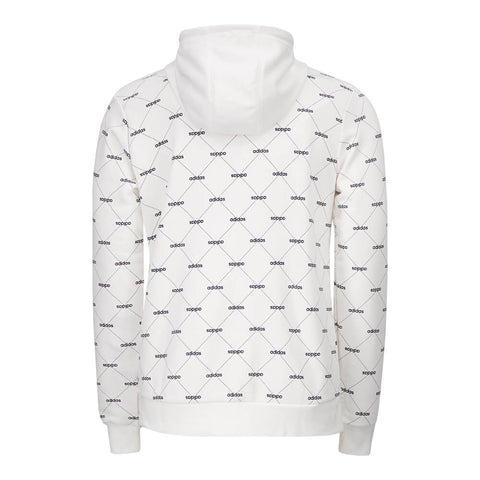 ADIDAS MEN'S LINEAR GRAPHIC HOODY WHITE/BLACK
