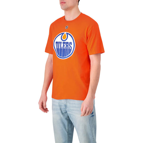 FANATICS MEN'S EDMONTON OILERS AUTHENTIC STACKED SHORT SLEEVE TOP DRAISAITL