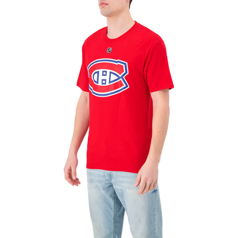 FANATICS MEN'S MONTREAL CANADIENS STACKED SHORT SLEEVE TOP DOMI