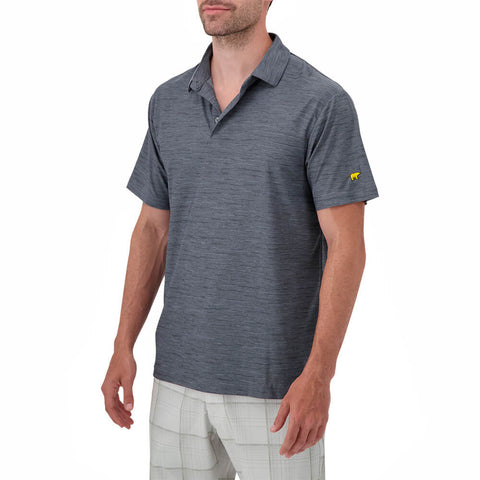JACK NICKLAUS MEN'S SPACE DYE STRIPE POLO TRADEWINDS
