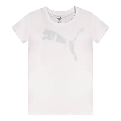 PUMA GIRL'S BIG CAT PACK GRAPHIC TEE PUMA WHITE