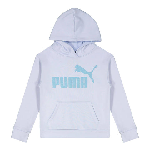PUMA GIRL'S NO.1 LOGO PACK FLEECE PULLOVER HOODY HEATHER