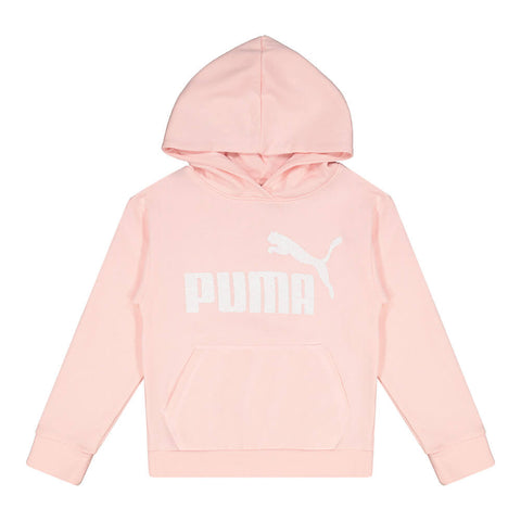 PUMA GIRL'S NO.1 LOGO PACK FLEECE PULLOVER HOODY CRYSTAL ROSE