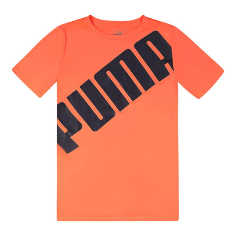 PUMA BOY'S SLANT PACK PERFORMANCE TEE NRGY RED