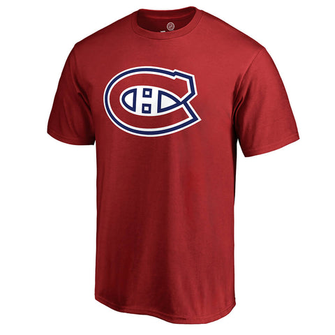 FANATICS MEN'S MONTREAL CANADIENS PRIMARY LOGO SHORT SLEEVE TOP RED