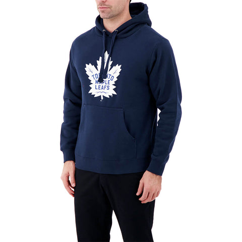 FANATICS MEN'S TORONTO MAPLE LEAFS LOGO HOODY NAVY BLUE