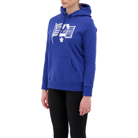 FANATICS WOMEN'S TORONTO MAPLE LEAFS LOGO HOODY BLUE