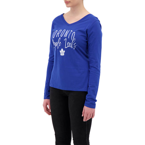 FANATICS WOMEN'S TORONTO MAPLE LEAFS LONG SLEEVE TOP ROYAL