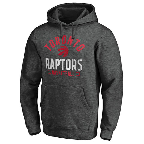 FANATICS MEN'S TORONTO RAPTORS HOODY DARK GREY HEATHER