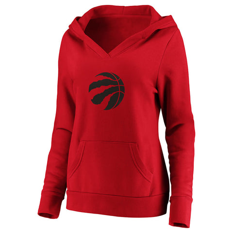 FANATICS WOMEN'S TORONTO RAPTORS CLAW BALL LOGO HOODY RED