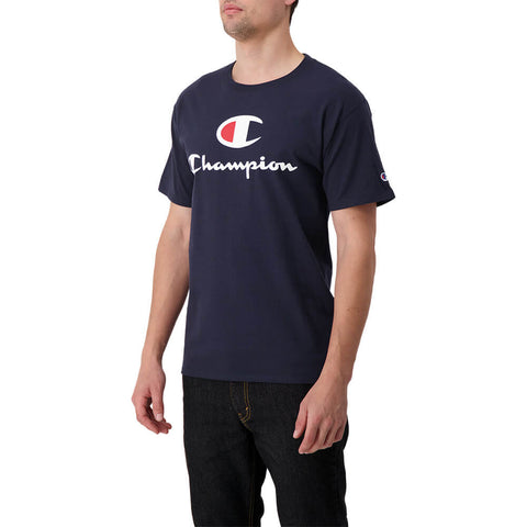 CHAMPION MEN'S CLASSIC GRAPHIC SHORT SLEEVE TOP NAVY