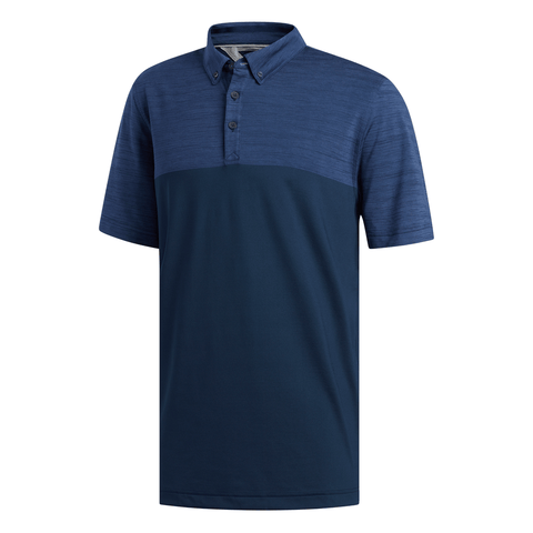 ADIDAS MEN'S ADIPURE PREMIUM POLO TOP NAVY